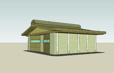 rammed-earth-garage-model
