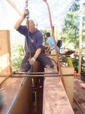 Chris tamping