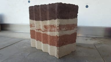 Rammed earth sample