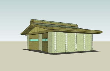 rammed-earth-garage-model