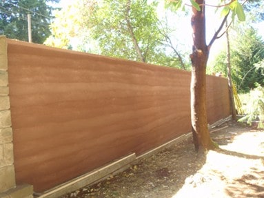 rammed earth wall layers