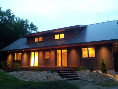 South facing passive solar design
