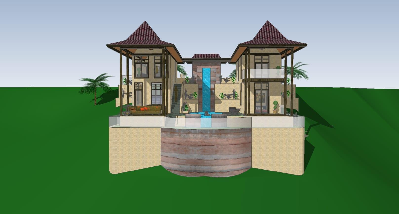 tropical waterfall villa 2